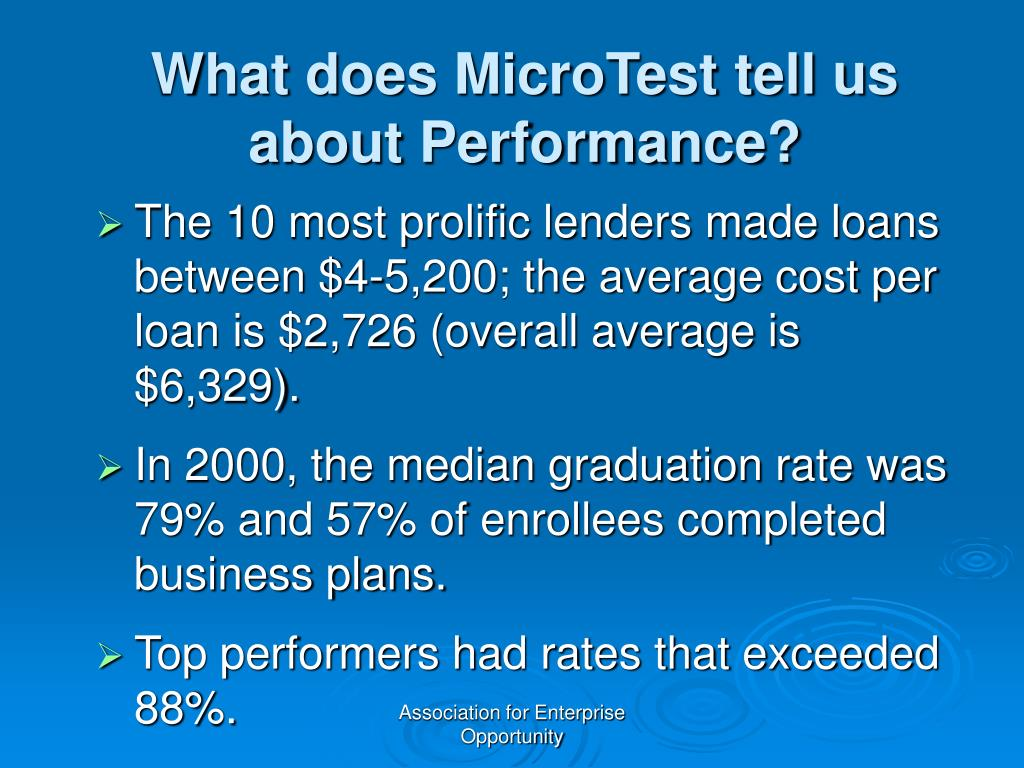 What does MicroTest tell us about Performance?