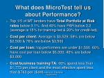 what does microtest tell us about performance54