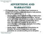 advertising and warranties27