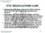 ftc regulatory law