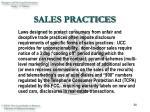 sales practices