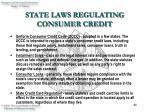 state laws regulating consumer credit