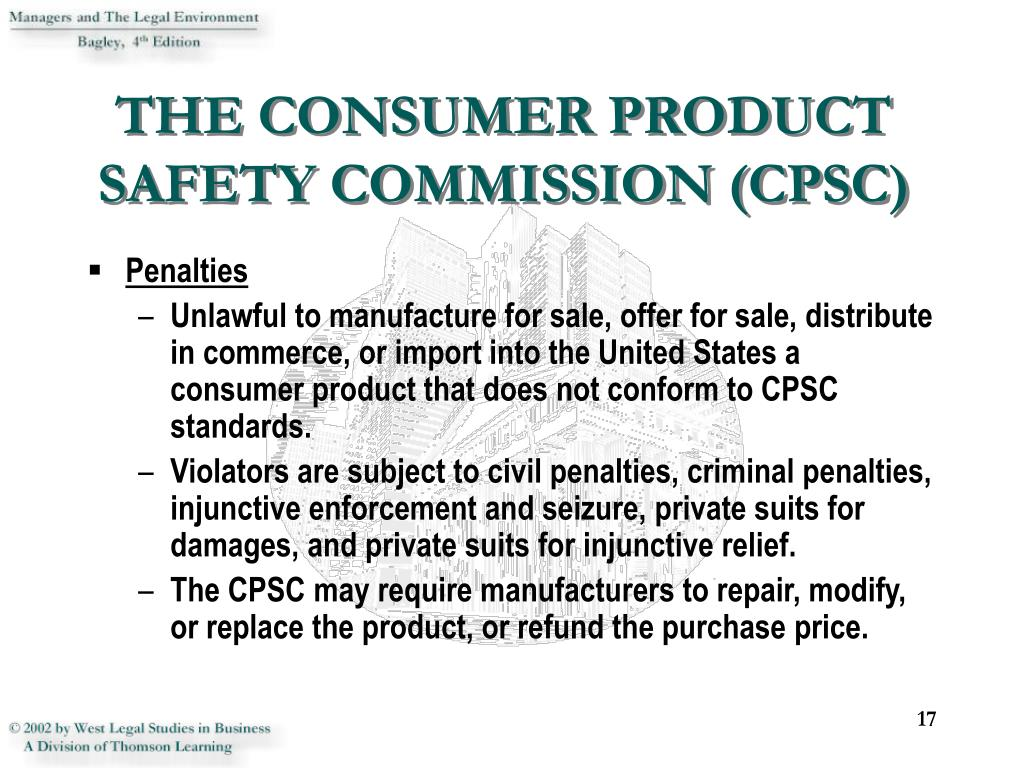 THE CONSUMER PRODUCT SAFETY COMMISSION (CPSC)