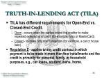 truth in lending act tila