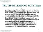truth in lending act tila38