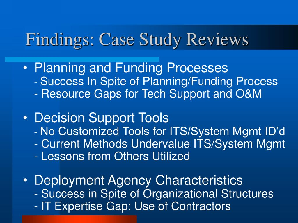 Findings: Case Study Reviews