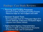 findings case study reviews