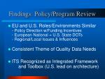 findings policy program review