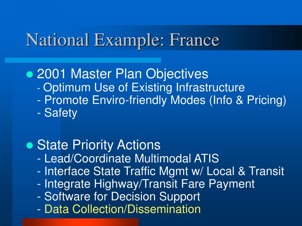National Example: France