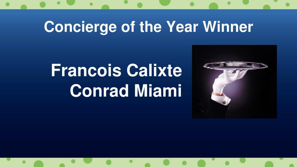 Concierge of the Year Winner