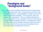 paradigms and background books