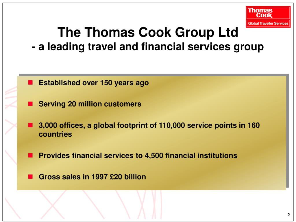 The Thomas Cook Group Ltd