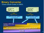 binary converter class byte code to msil