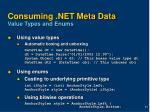consuming net meta data value types and enums
