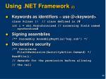 using net framework 2