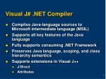 visual j net compiler