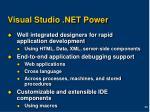 visual studio net power
