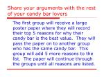share your arguments with the rest of your candy bar lovers