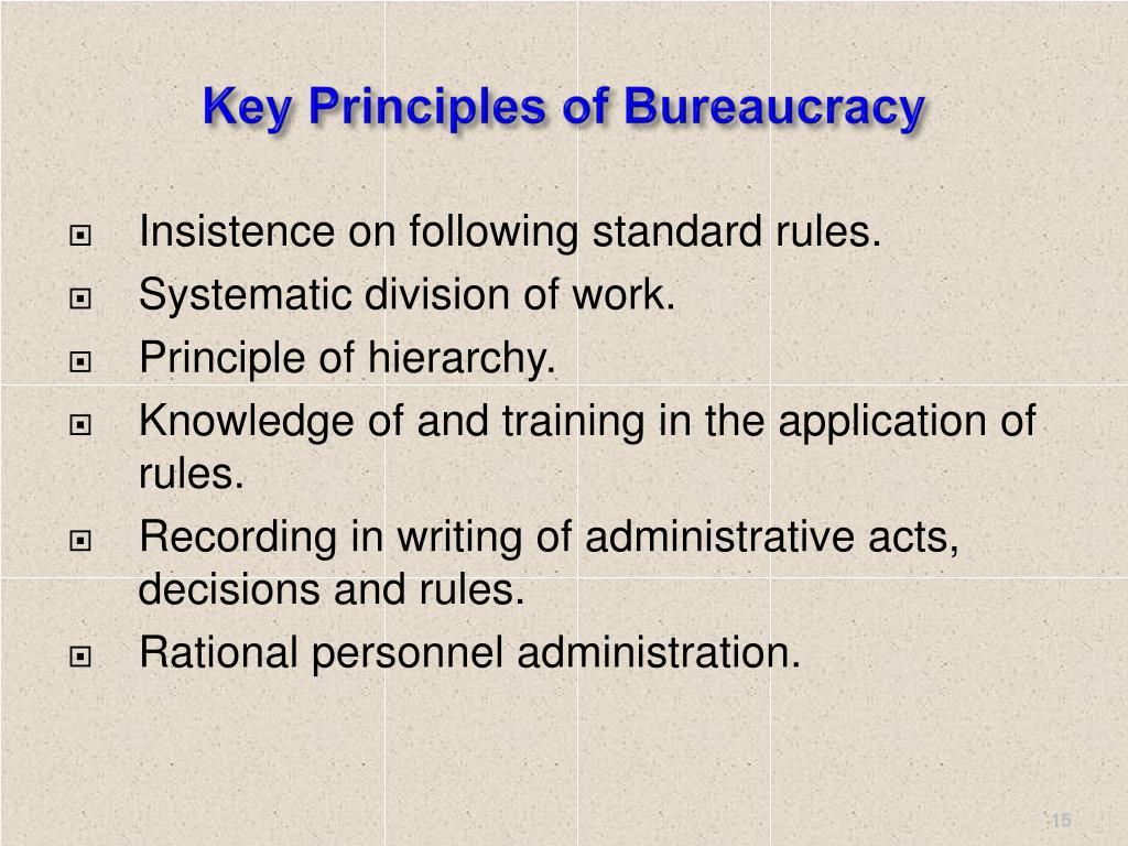 Key Principles of Bureaucracy