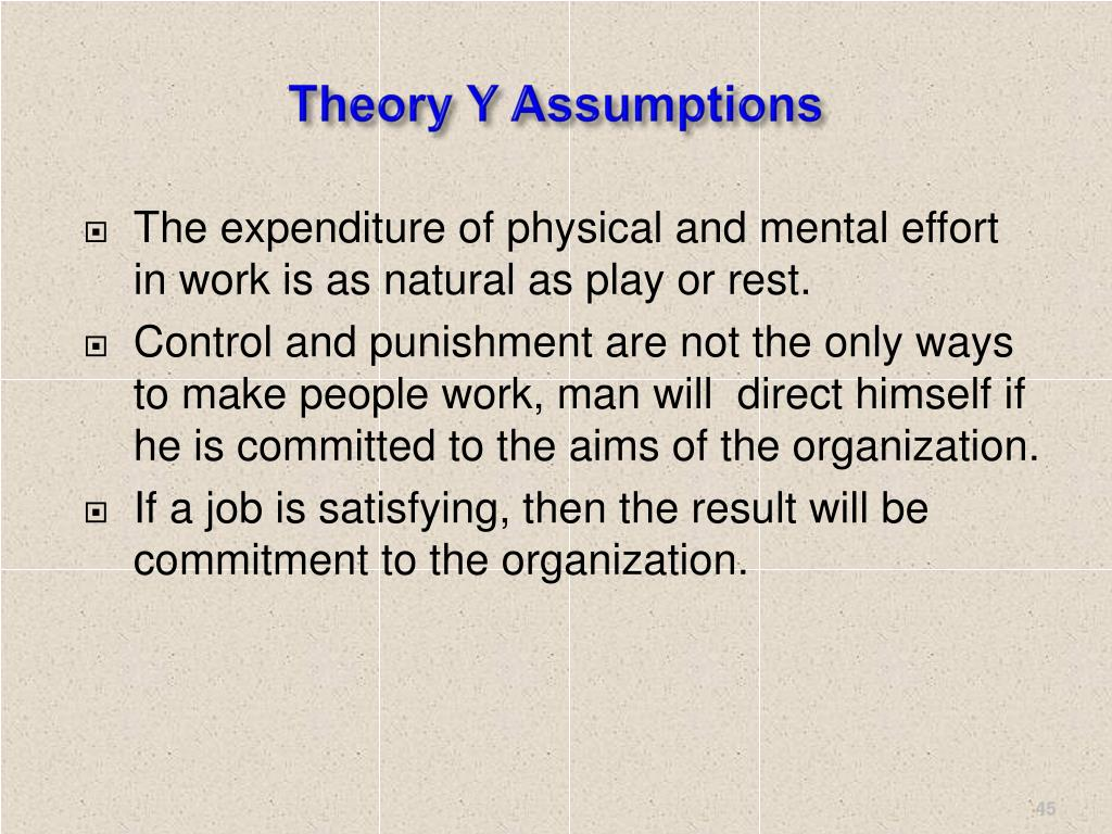 Theory Y Assumptions