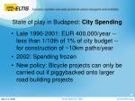 state of play in budapest city spending