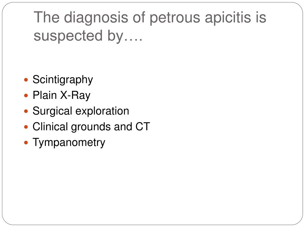 The diagnosis of
