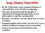 scope monkey trial 1925