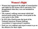 women s right