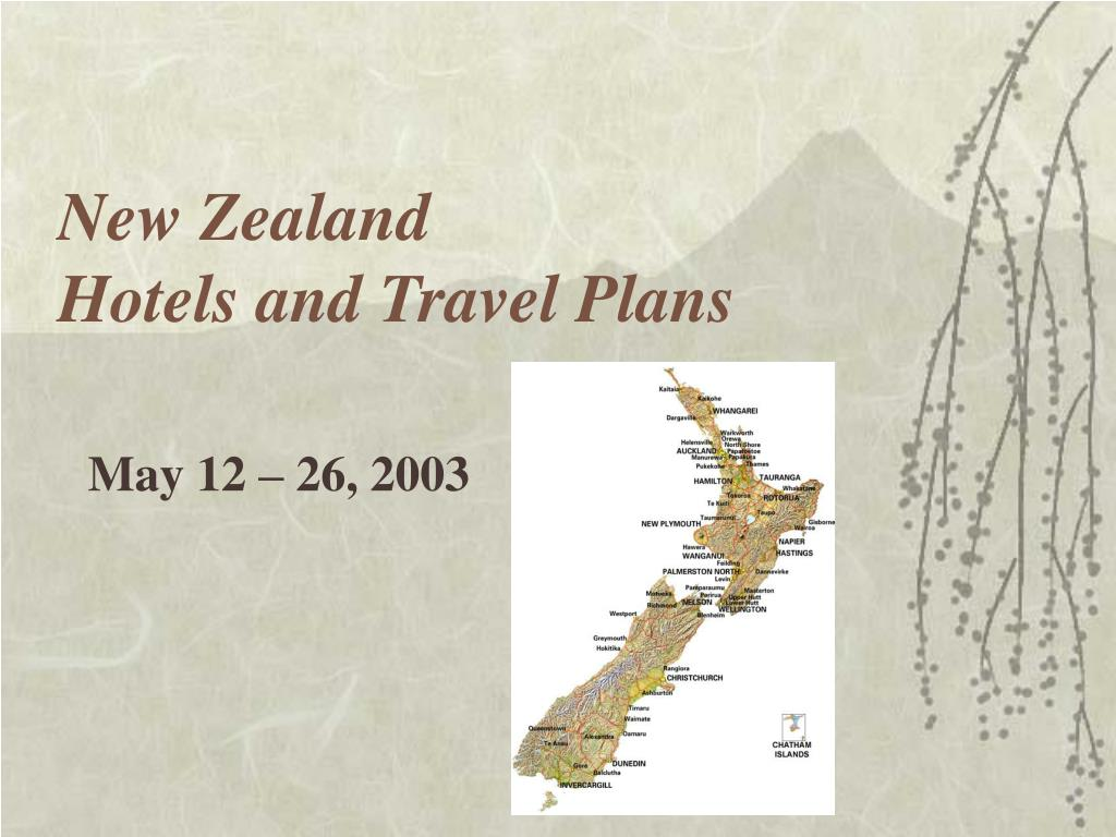 new zealand hotels and travel plans