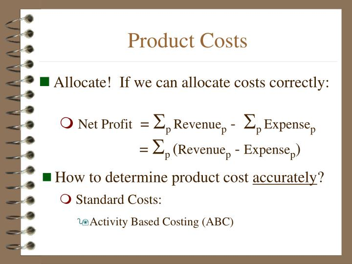 determining product cost