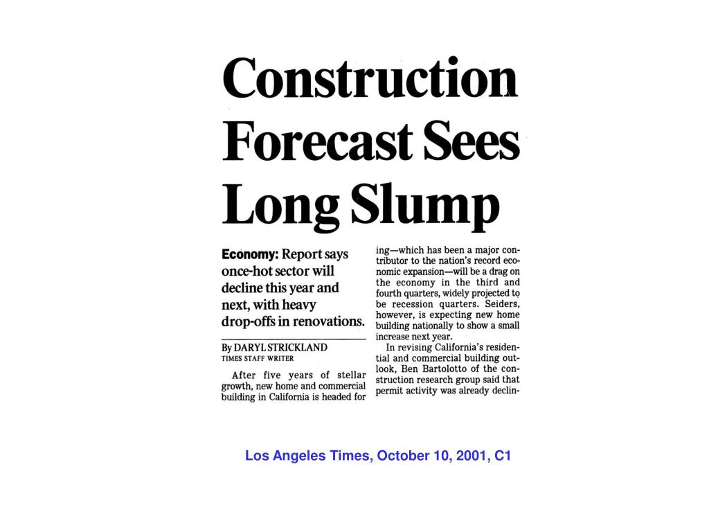 Los Angeles Times, October 10, 2001, C1