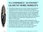 e commerce economy leads to more mobility