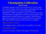 chemigation calibration batch system