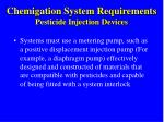 chemigation system requirements pesticide injection devices