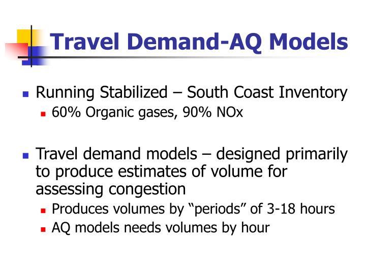 Travel demand aq models