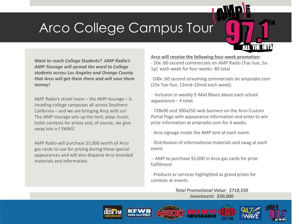Arco College Campus Tour