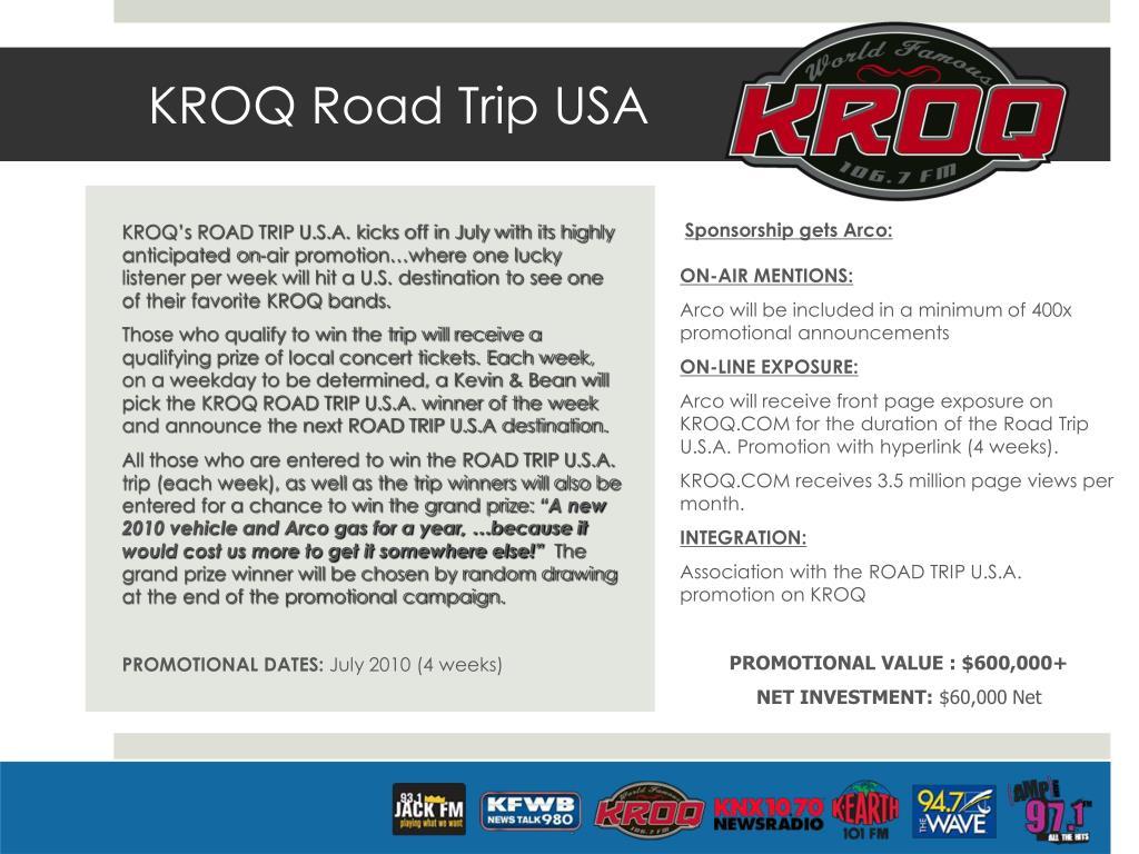 KROQ Road Trip USA