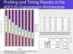 profiling and timing results of the adcus coprocessor architecture