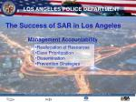 the success of sar in los angeles