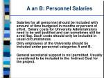a an b personnel salaries