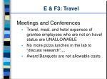 e f3 travel