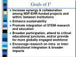 goals of i 3