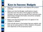 keys to success budgets