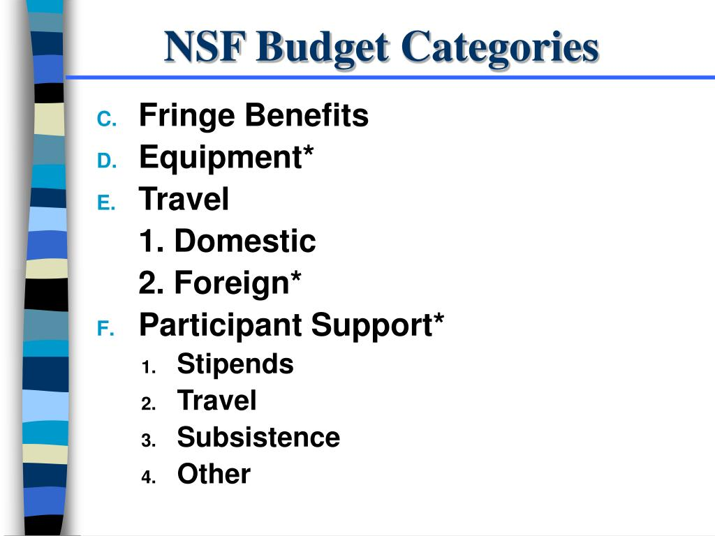NSF Budget Categories