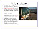 ngo s lacbc