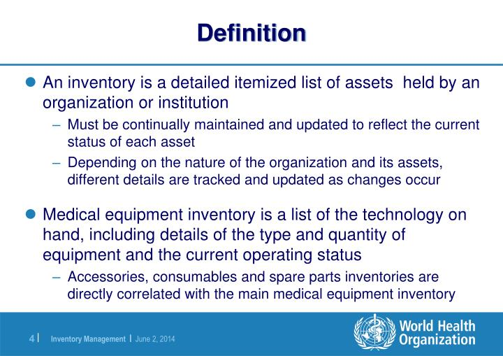 Ppt Introduction To Medical Equipment Inventory