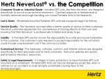 hertz neverlost vs the competition