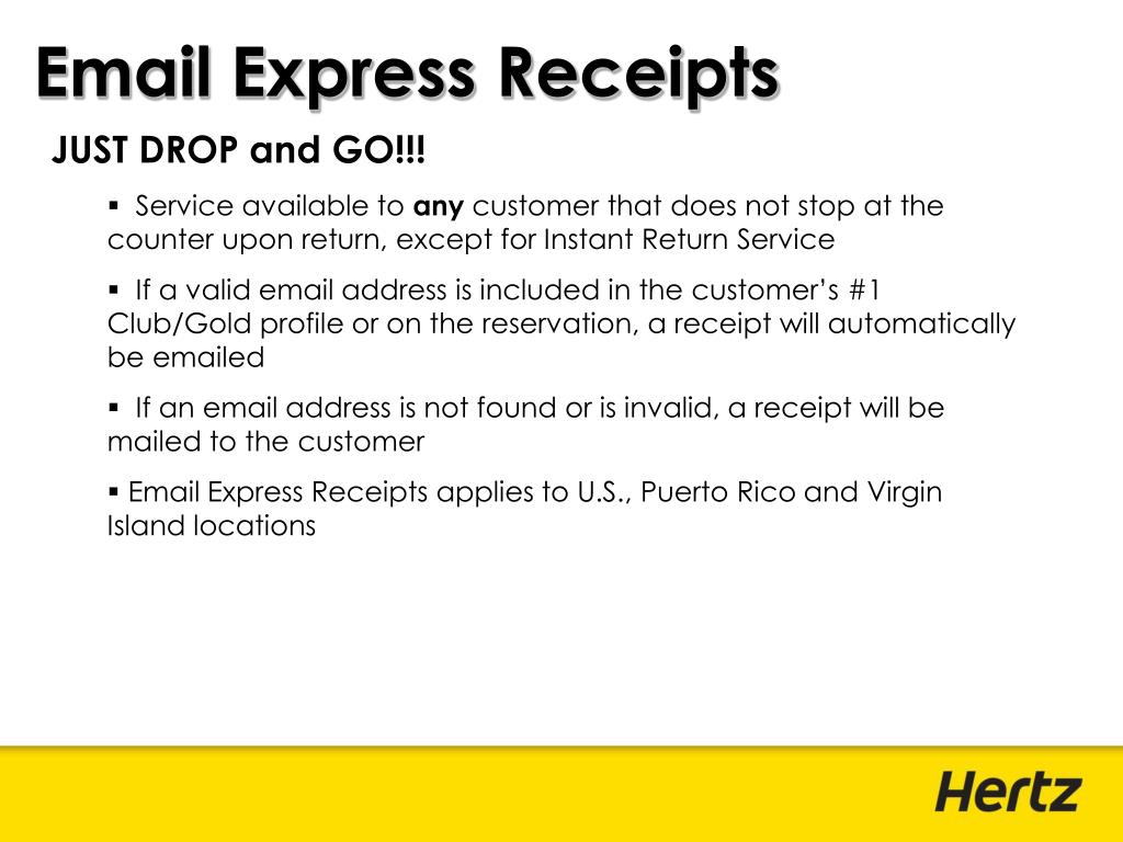 Email Express Receipts