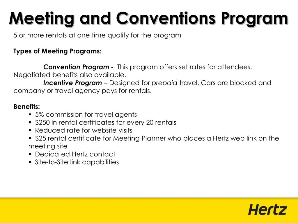 Meeting and Conventions Program