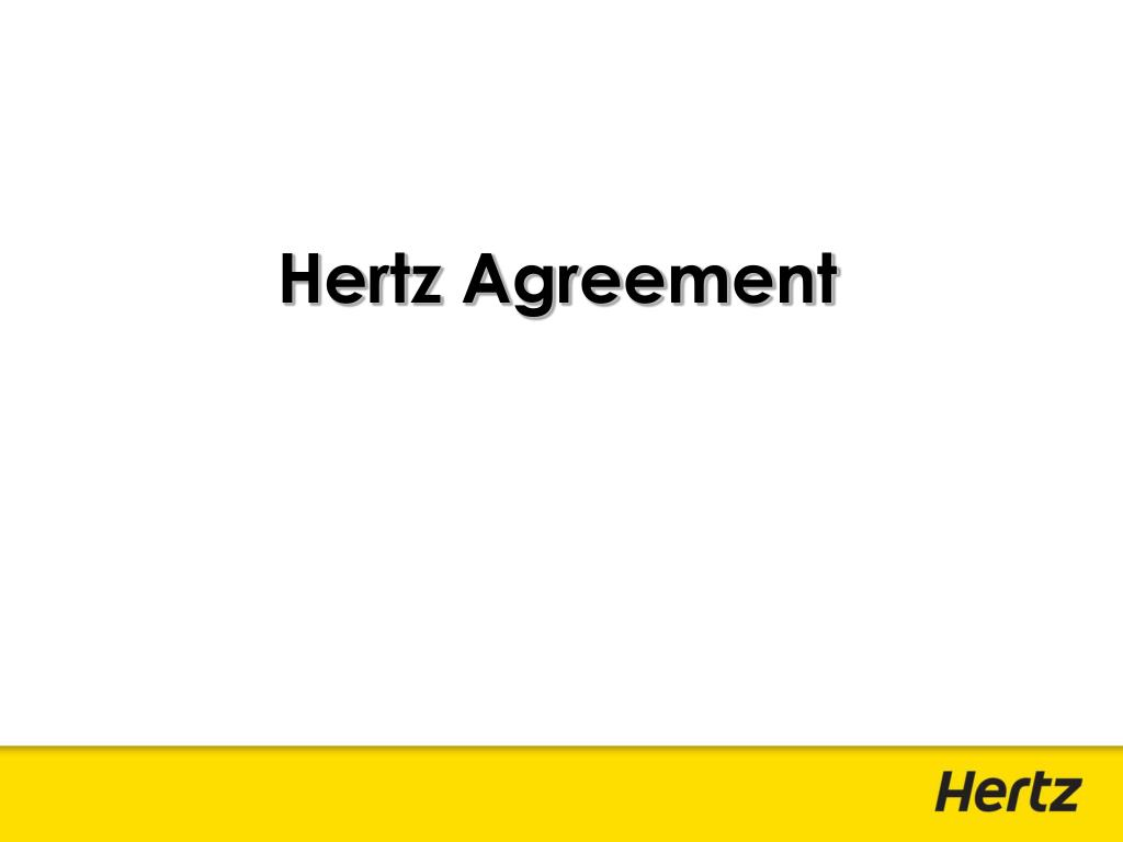 Hertz Agreement